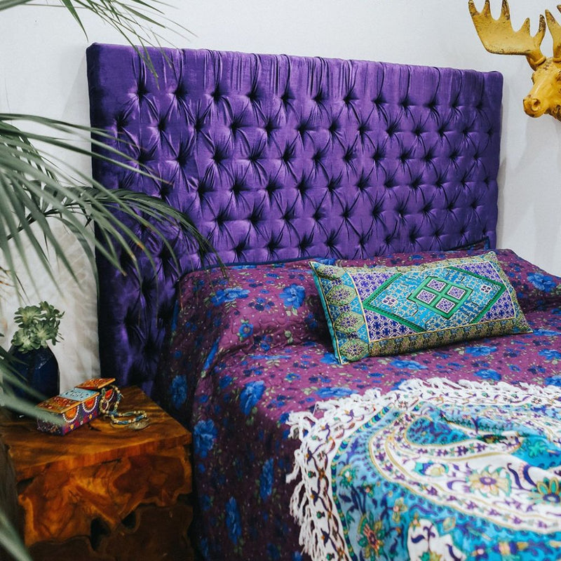 Purple Chesterfield Bedhead