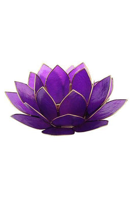 Purple Lotus Tealight Holder
