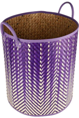 Purple Ombre Woven Basket - Large