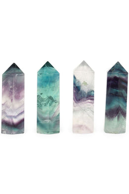 Rainbow Fluorite Crystal Tower