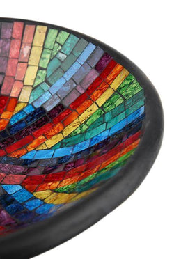 Rainbow Mosaic Bowl