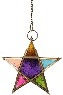 Rainbow Star Lantern 5 Pointer