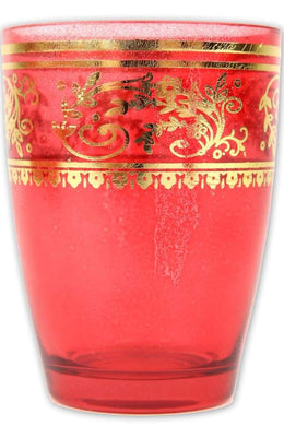 Red Moroccan Tea Glass