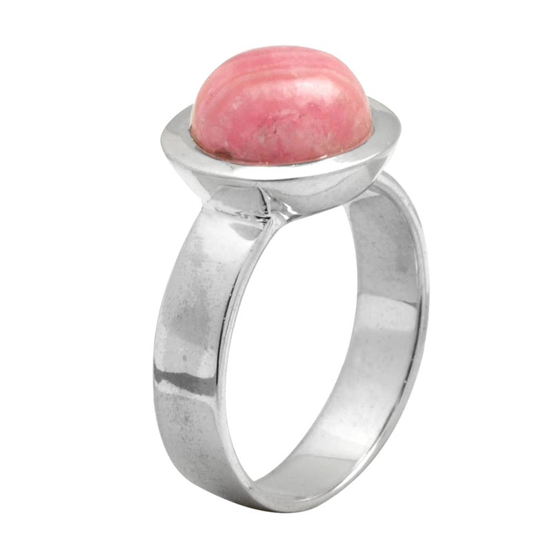 Rhodochrosite Oval Ring