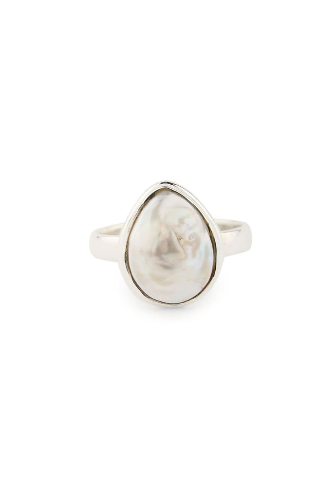 Ring Tear Drop Freshwater Pearl Size 8