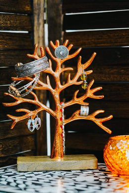 Rose Gold Jewellery Tree Stand - Small