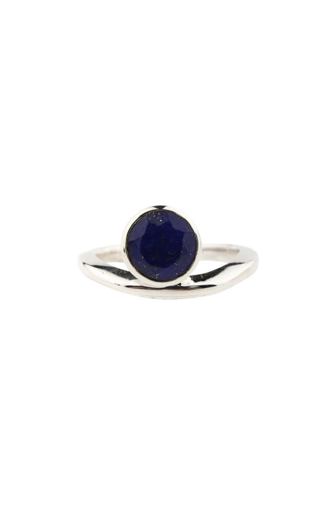 Round Floating Gemstone Silver Ring