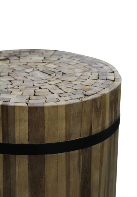 Round Recycled Side Table