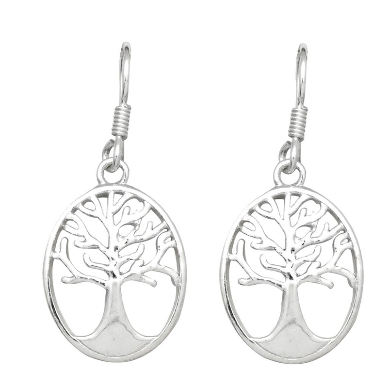 Round Tree Of Life Earrings