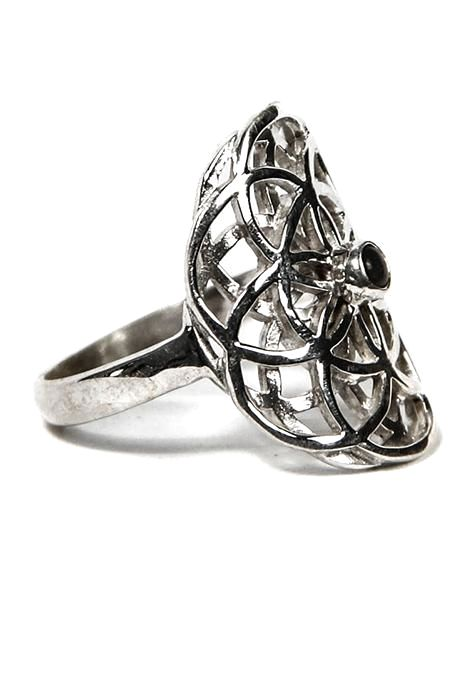 Seed Of Life Ring With Assorted Stone