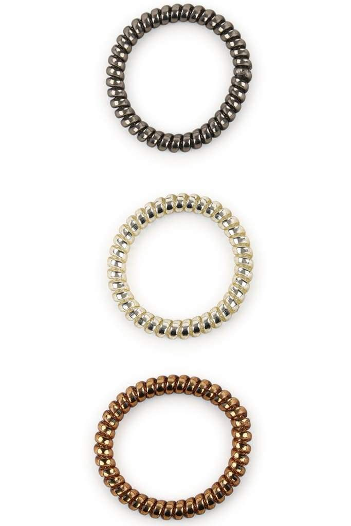 Set Of 3 Small Spiral Hair Bands