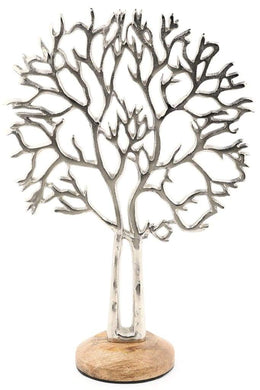 Silver Jewellery Tree Stand - Large