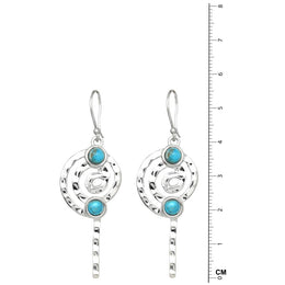 Spiral Turquoise Earrings