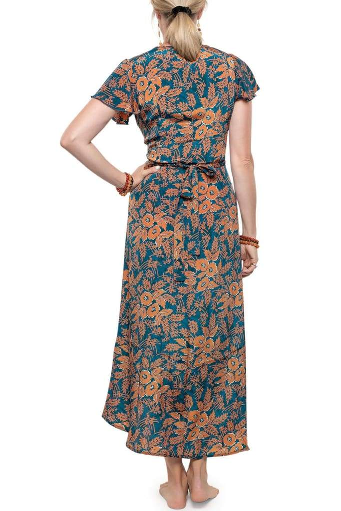 Spring Flower Wrap Dress