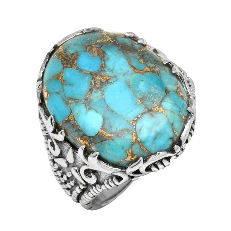 Statement Copper Turquoise Ring