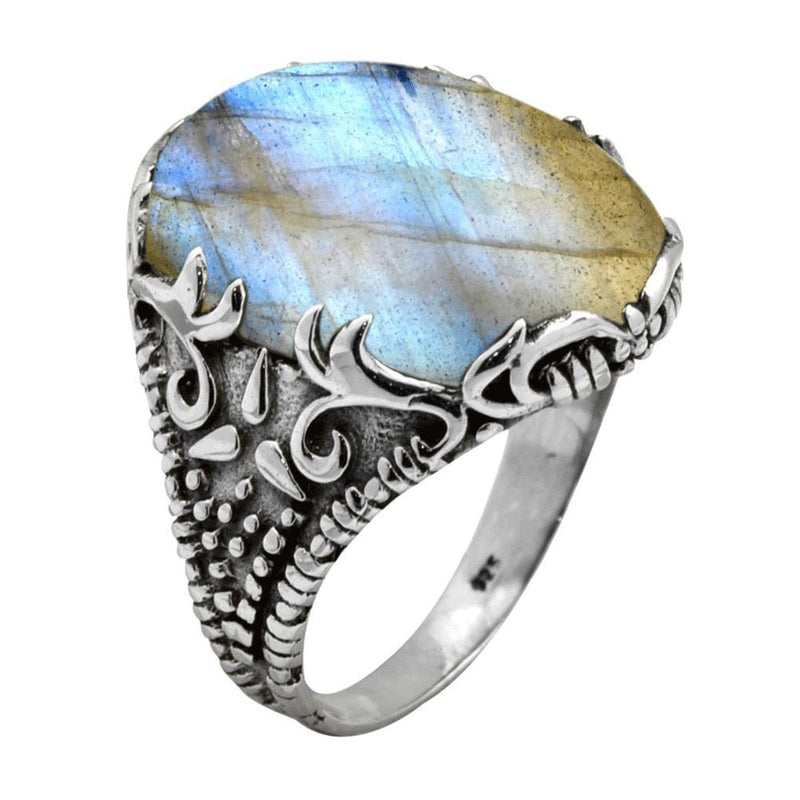 Statement Labradorite Ring