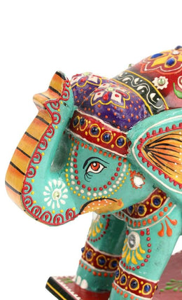 Statue Elephant Rocking Painted