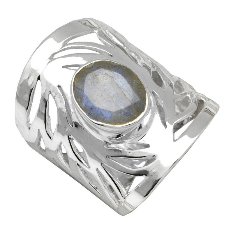 Swirling Band Labradorite Ring