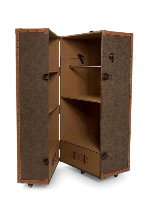 Taupe Travel Cabinet