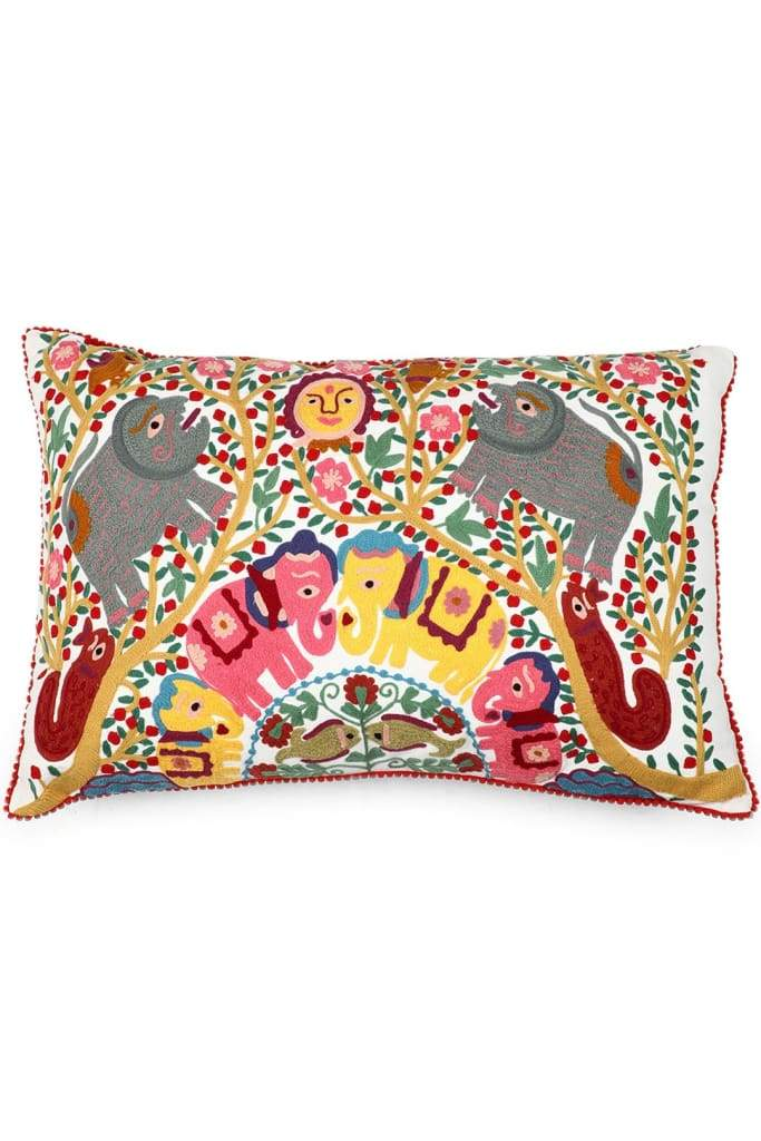 Tree Of Life Elephant Cushion