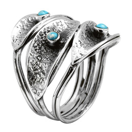 Tri-Stone Turquoise Ring