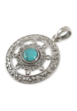 Turquoise Curly Cut Pendant