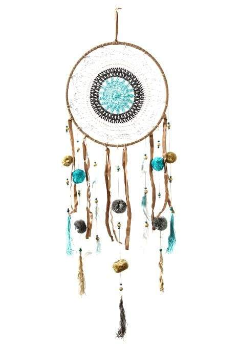Turquoise & Natural Dreamcatcher