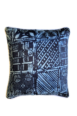 Authentic Indigo Mudcloth Cushion Medium