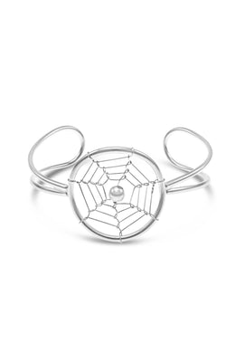 Sterling Silver Dreamcatcher Cuff
