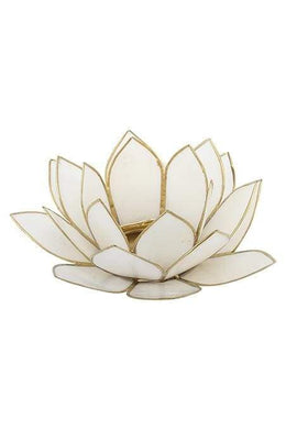 White Lotus Tealight Holder