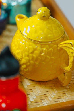 Yellow Flower Ceramic Teapot