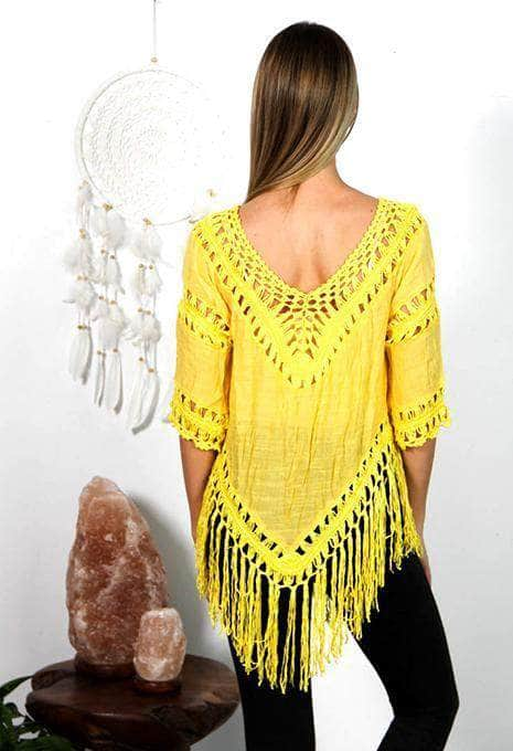 Yellow Fringe Top