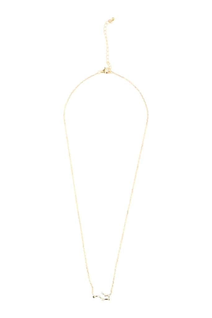 Zodiac Constellation Gold Plated Necklace