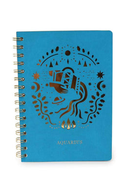 Zodiac Gold Spiral Notebook