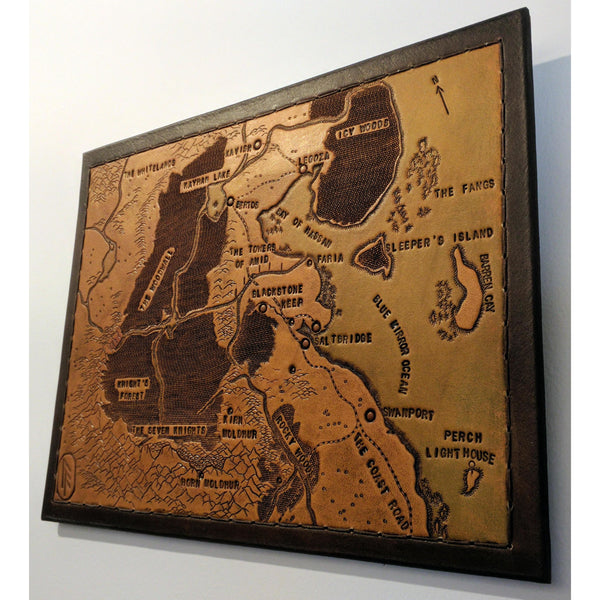 Personalized Leather Map, Medium