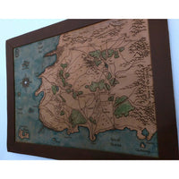 Personalized Leather Map, Large