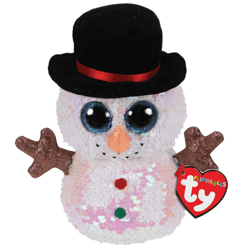 Melty the Snowman - Flippable Sequin Soft Toy - Ty