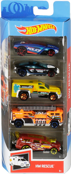 Hot Wheels 5-Pack - 2019 -2010 - Mattel