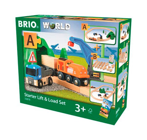Lift and Load Starter Set - Train Set - BRIO - 33878