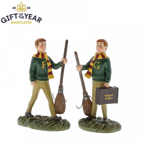 Fred & George Weasley Figurines - Harry Potter - Licensed Giftware