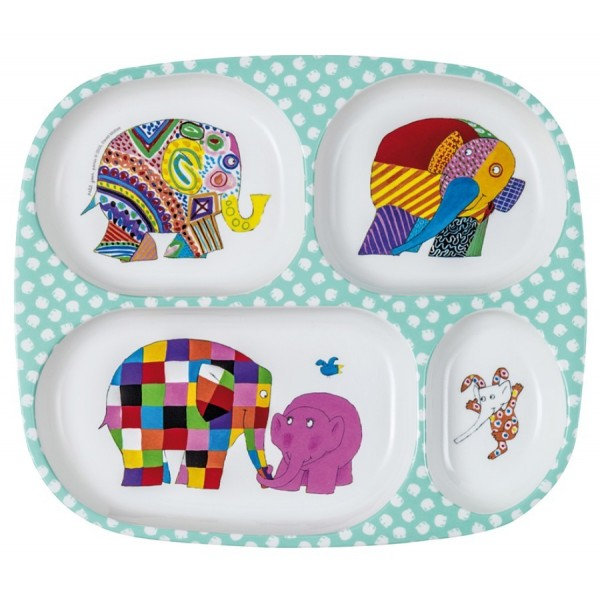 Elmer the Elephant Multi compartment Plate
