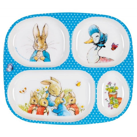 Peter Rabbit - 4 Compartment Food Plate - Beatrix Potter