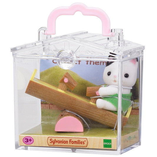 Baby Carry Case (Cat on See-saw) - Sylvanian Families