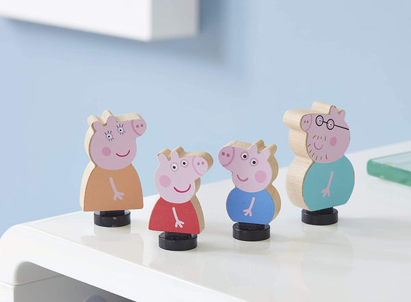 Wooden Peppa Pig Family