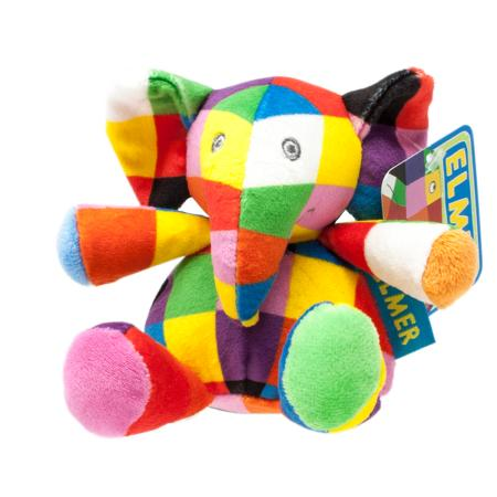 Elmer the Elephant Soft Rattle Toy - Baby