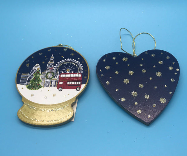 Painted Wood London Scenes Decorations by Gisela Graham