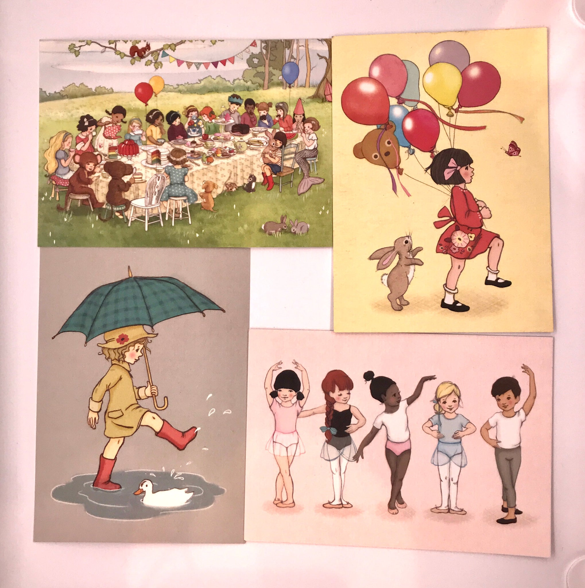 Belle & Boo Postcards Set of 12