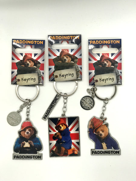 Metal Paddington Bear Key Ring