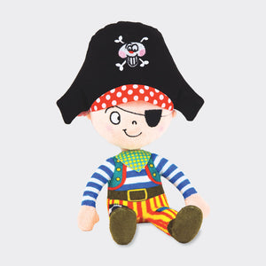 Captain Pilchard Pirate - Plush Soft Toy - Rachel Ellen Designs