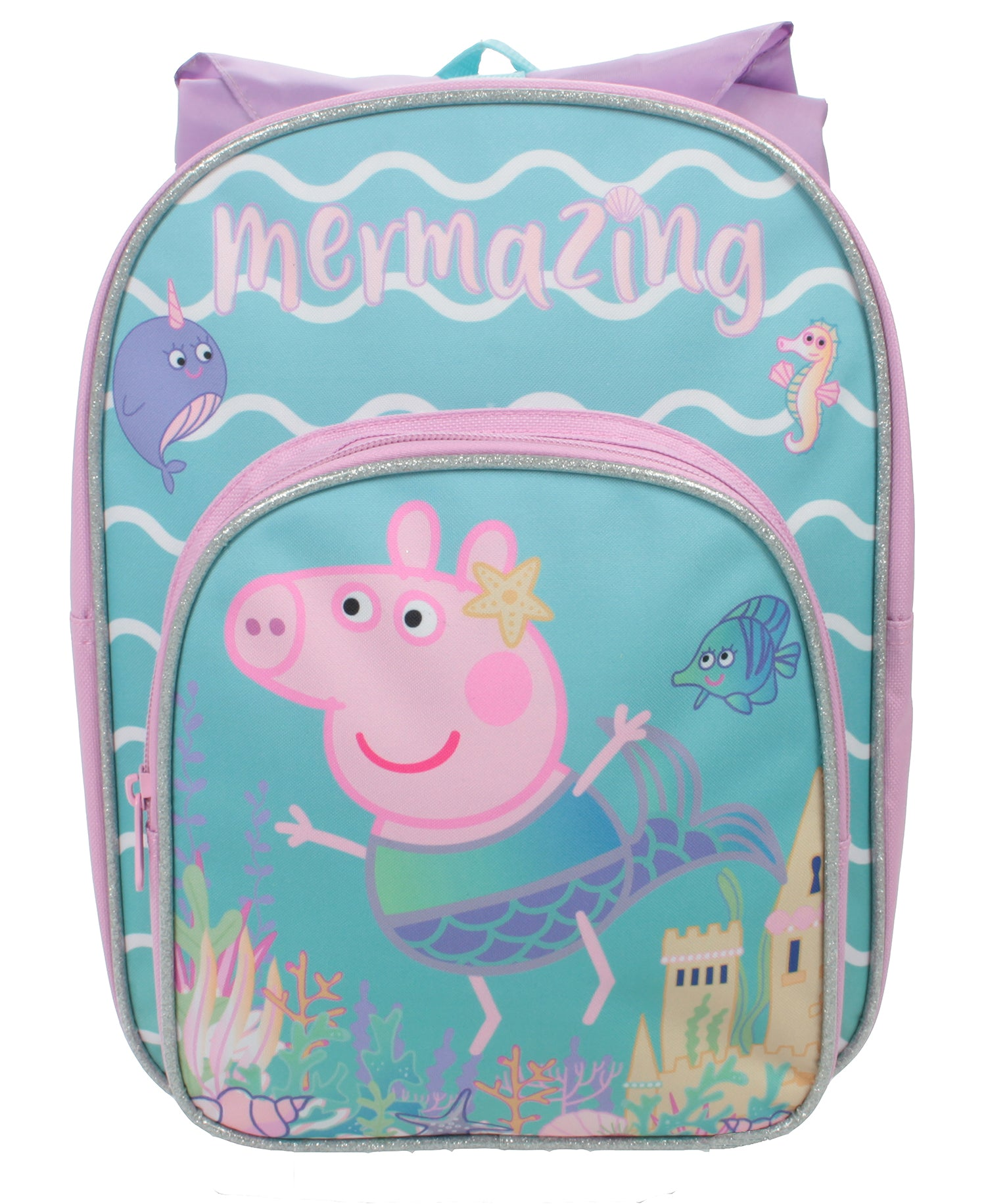 Peppa Pig - Backpack with extra outer pocket and novelty hood